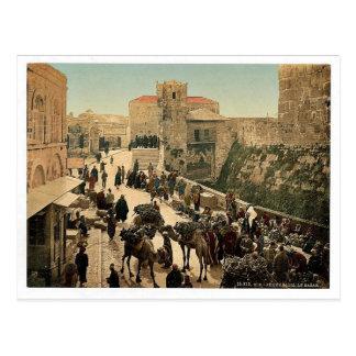 Street of the Tower of David, the bazaar, Jerusale Postcard