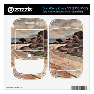 Street on the bank of the sea by Giovanni Fattori BlackBerry Curve Decal
