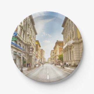 street paper plate