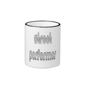 Street Performer Silver Coffee Mug