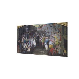 Street Performers at the Carnival Populaire Gallery Wrapped Canvas