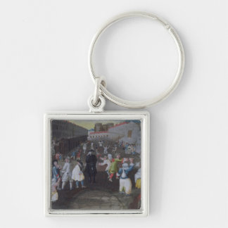Street Performers at the Carnival Populaire Keychain