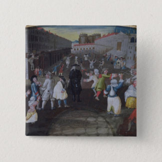 Street Performers at the Carnival Populaire Pinback Button