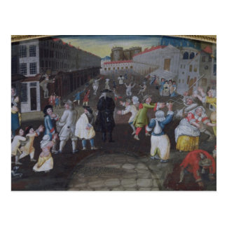 Street Performers at the Carnival Populaire Postcard