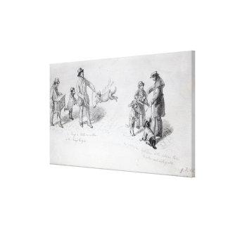 Street Performers, c.1839-43 Canvas Print