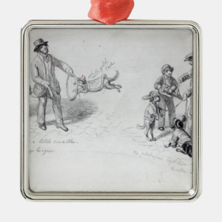 Street Performers, c.1839-43 Metal Ornament