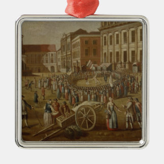 Street performers in the Alter Markt, 1771 Metal Ornament