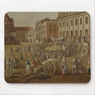 Street performers in the Alter Markt, 1771 Mouse Pad
