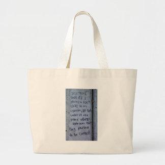 Street Philosophy Large Tote Bag