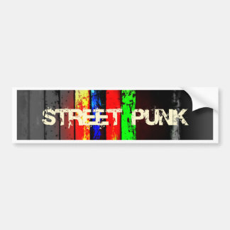 Street Punk Logo Design Bumper Sticker