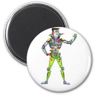 Street Ready Digital Man 2 Inch Round Magnet