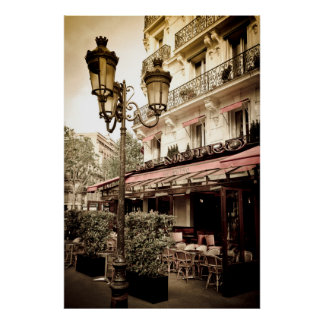 Street restaurant, Paris, France Poster