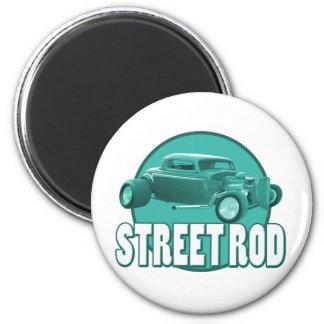 street rod blue circle 2 inch round magnet