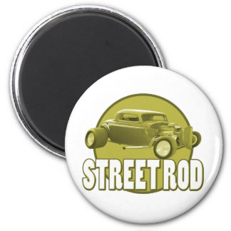 street rod circle 2 inch round magnet