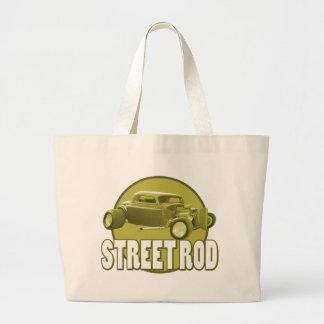 street rod circle canvas bag