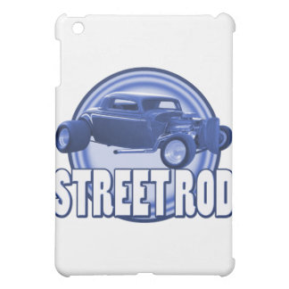 street rod circle blue double ring iPad mini cover