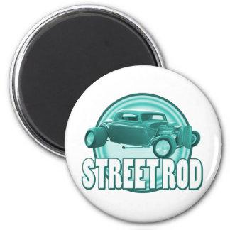 street rod circle ice green 2 inch round magnet