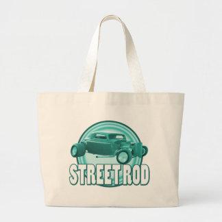 street rod circle ice green canvas bags