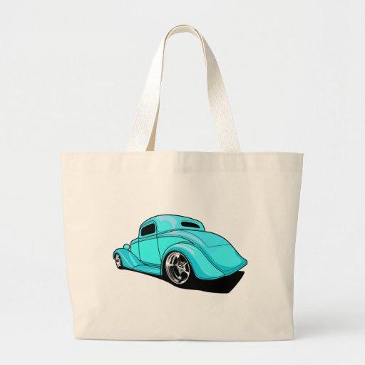 Street Rod Cyan Canvas Bags