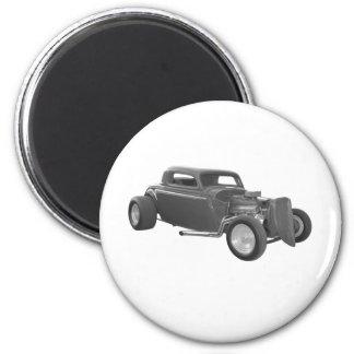 street rod gray 2 inch round magnet