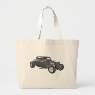 street rod gray tote bag