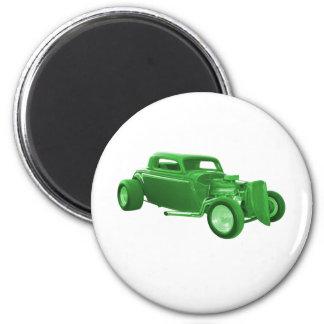street rod green money 2 inch round magnet