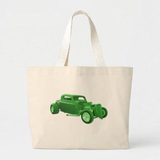 street rod green money bags
