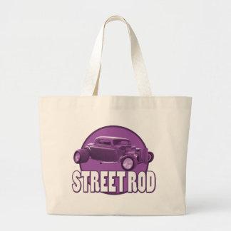 street rod purple moon tote bag