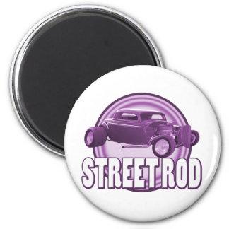 street rod purple rings 2 inch round magnet