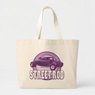 street rod purple rings tote bag