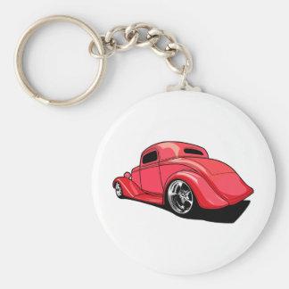 Street Rod Red Keychains