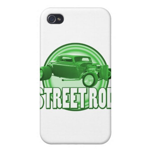 street rod with style in green iPhone 4 cover