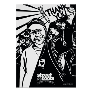 Street Roots Thank You cover - Nikki McClure art Poster