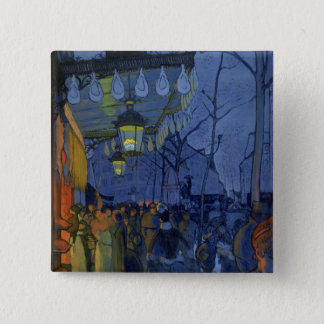 Street Scene, at Five in the Afternoon, 1887 Pinback Button