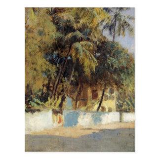 Street Scene, Bombay by Edwin Lord Weeks Postcard