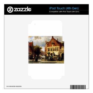 Street scene by Cornelis Springer iPod Touch 4G Skin