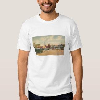 street scene-carolina beach t-shirt