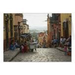 Street Scene Central San Miguel de Allende Cards