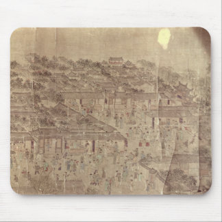 Street scene, Chinese, Ming Dynasty Mouse Pad