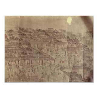Street scene, Chinese, Ming Dynasty Poster