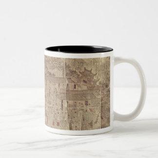 Street scene, Chinese, Ming Dynasty Two-Tone Coffee Mug