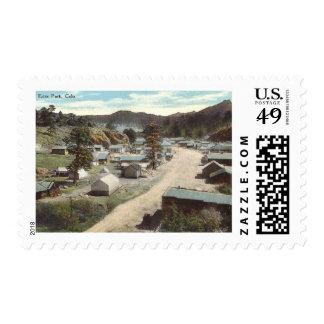 Street Scene, Elkhorn Ave., Estes Park CO Vintage Stamp