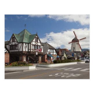 Street Scene from historic Solvang Postcard