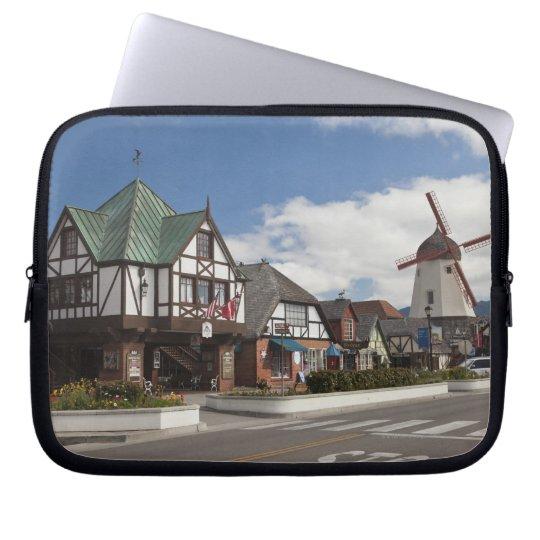 Street Scene from historic Solvang, 'The Danish Laptop Sleeve