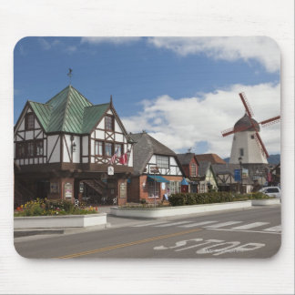 Street Scene from historic Solvang, 'The Danish Mouse Pad