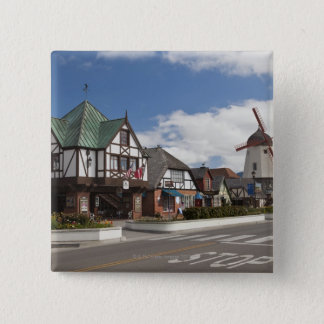 Street Scene from historic Solvang, 'The Danish Pinback Button