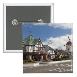 Street Scene from historic Solvang, 'The Danish Pinback Button