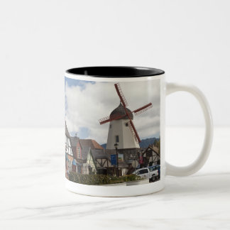 Street Scene from historic Solvang, 'The Danish Two-Tone Coffee Mug