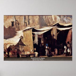 Street Scene In Algiers By Buchser Frank Print