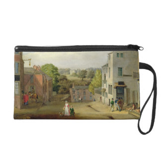 Street Scene in Chorley, Lancashire, with a View o Wristlet Purse